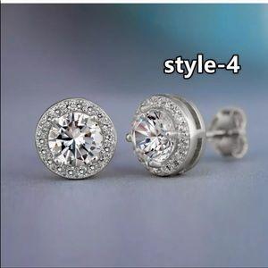 New 18k white gold & halo diamond unisex style❤️🔥